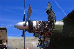 Transall γ-160 μηχανή Στοκ Εικόνες