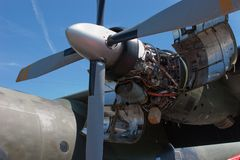Transall C-160 Engine Royalty Free Stock Photos