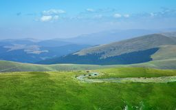 Transalpina山路 免版税库存图片