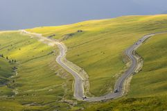 Transalpina d'en haut Images stock