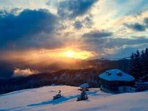 Transalpina in de winter Royalty-vrije Stock Foto's