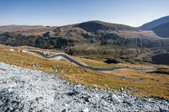 Transalpina el camino de la altitud más alta Fotografía de archivo libre de regalías
