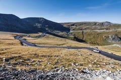 Transalpina el camino de la altitud más alta Fotos de archivo libres de regalías