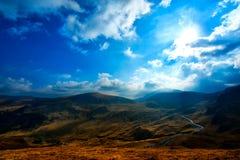 Transalpina, a estrada da altura a mais alta em Romania Fotos de Stock