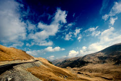 Transalpina, the highest altitude road in Romania Royalty Free Stock Photo
