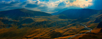 Transalpina, the highest altitude road in Romania. Crossing the Parang mountains royalty free stock images