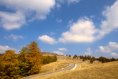Transalpina, the highest altitude road in Romania Stock Image