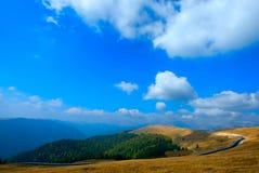 Transalpina, the highest altitude road in Romania Stock Photos