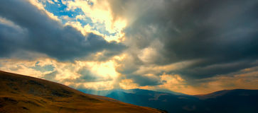 Transalpina, the highest altitude road in Romania. Crossing the Parang mountains stock images