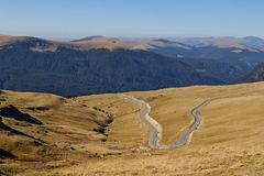 Transalpina, the highest altitude road in Romania. Carpathians. Transalpina, the highest altitude road in Romania, crossing the Parang mountains royalty free stock image