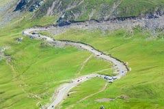 Transalpina mountain highway Stock Images