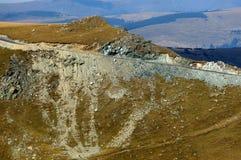 Transalpina mountain road Stock Images
