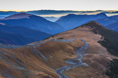 Transalpina road 2145m Stock Photography