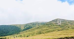 Transalpina road, Parang Mountains, pine forests,  Carpathian Mo Stock Photography