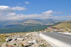 Transalpina road and Ranca mountain resort Stock Image