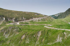 Transalpina road in the Romanian Carpathians. Beautiful mountains from Transalpina road Royalty Free Stock Photography