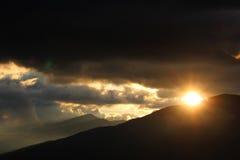 Transalpina Road, Transylvanian Alps,  Romania. Sunset on Transalpina Road, Transylvanian Alps,  Romania Royalty Free Stock Image
