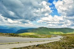 Transalpina Romania. Extreme Road - Transalpina Romania - One of the most beautiful roads in the world royalty free stock images