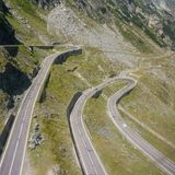 Transalpina. Transilvania beautiful curved road in Romanian Carpathian mountains Royalty Free Stock Photo