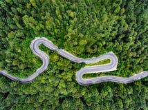 Transalpina väg i Rumänien arkivbild