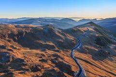 Transalpina väg 2145m, Rumänien Royaltyfri Bild