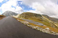 Transalpina winding road Stock Image