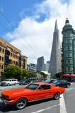 Transamerica金字塔在旧金山-加利福尼亚美国 库存照片