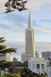 Transamerica金字塔,旧金山 库存照片