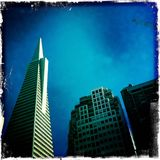 Transamerica buduje San Fransisco dnia czas Fotografia Royalty Free