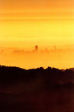 San Francisco skyline. In the haze as seen from the Mount Diablo in the city of Walnut Creek, California Royalty Free Stock Photo