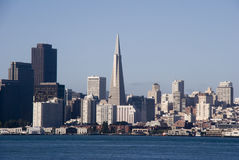 Transamerica Building from Angel Island royalty free stock images