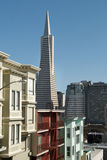 Transamerica Building and Downtown San Francisco f Royalty Free Stock Photos