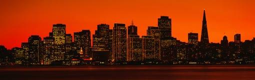 Transamerica Building at sunset Stock Photos