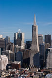 Transamerica Pyramid. The aerial view of the Transamerica building royalty free stock images