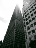 Transamerica Pyramid disappearing into cloud Royalty Free Stock Photo