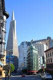 Transamerica Pyramid and historic buildings San Francisco Royalty Free Stock Image