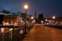 Transamerica Pyramid at night in San Francisco, CA Stock Photography
