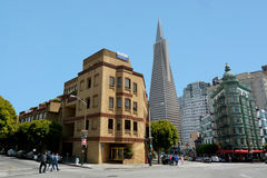 Transamerica Pyramid in San Francisco - California USA Royalty Free Stock Photo