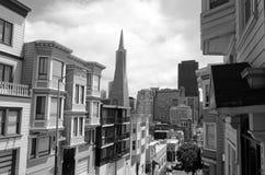 Transamerica Pyramid in San Francisco CBD Stock Photography