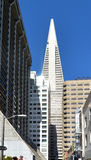 Transamerica Pyramid in San Francisco downtown Royalty Free Stock Image