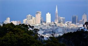 Transamerica Pyramid in San Francisco skyline Stock Photos