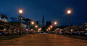 Transamerica Pyramid in San Francisco skyline at night Royalty Free Stock Photo