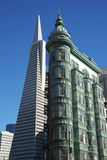Transamerica Pyramid and Sentinel Building, San Francisco Royalty Free Stock Photo