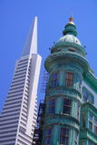 Transamerica Pyramid and Sentinel Tower Royalty Free Stock Images