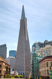 The Transamerica Pyramid skyscraper in San Francisco Royalty Free Stock Images
