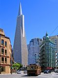 Transamerica Pyramid, trolley Stock Photography