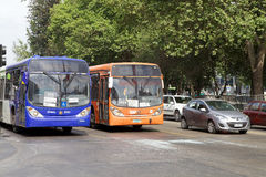 Transantiago bus in santiago, Chile Stock Images