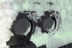 Transatlantic boat cruise windows icy    close-up Stock Images