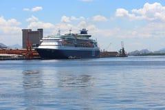 Transatlantic Cruise Season in Rio de Janeiro Royalty Free Stock Photography