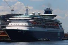 Transatlantic Cruise Season in Rio de Janeiro Royalty Free Stock Photo